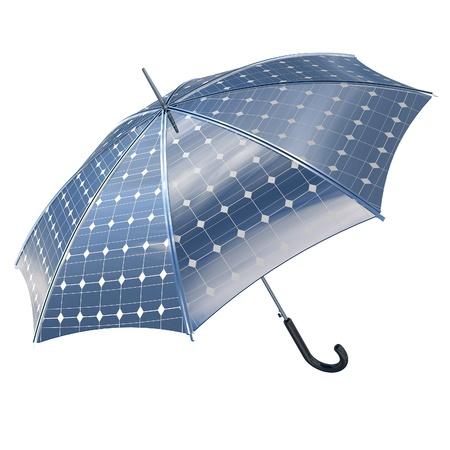 photovoltaic power station: open photovoltaic umbrella stick concept