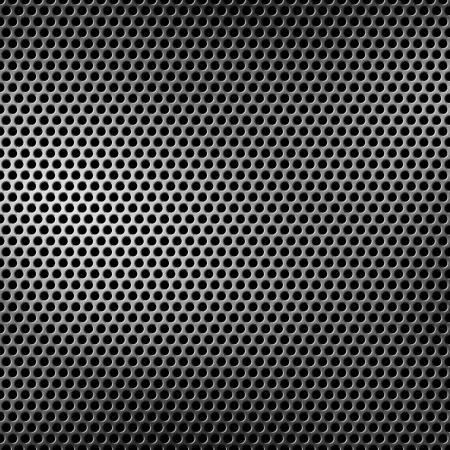 쇠 격자: 천공 금속 배경