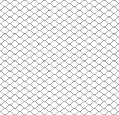 metal chain link fence seamless on white Stock Photo