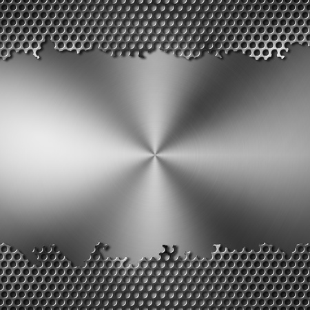 perforated metal with brushed background photo