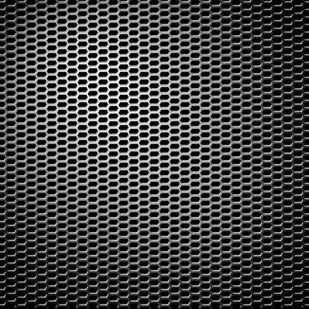 metal honeycomb grid background Stock Photo - 12402338