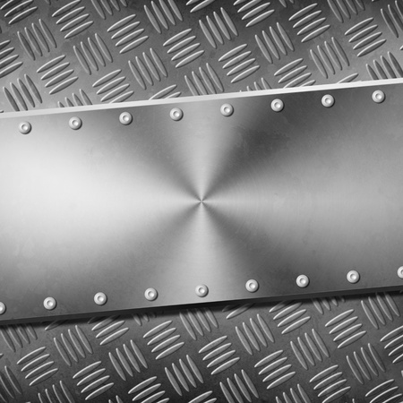metal plate background Stock Photo - 12402341