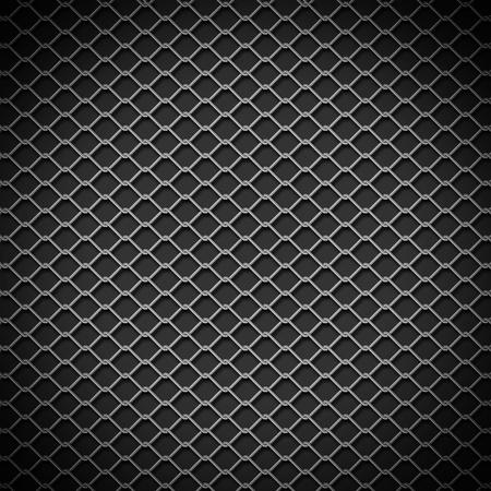 金属チェーン リンク フェンスの背景 写真素材