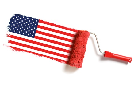 roller brush with usa flag