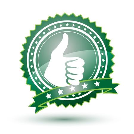 Best choice green badge Vector