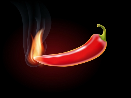 red jalapeno: burning red hot chili pepper