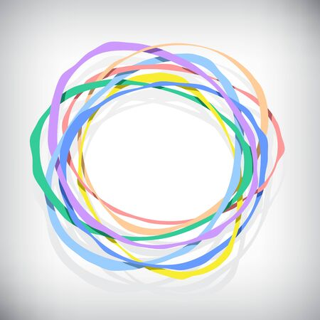 abstract composition with color rings Vector