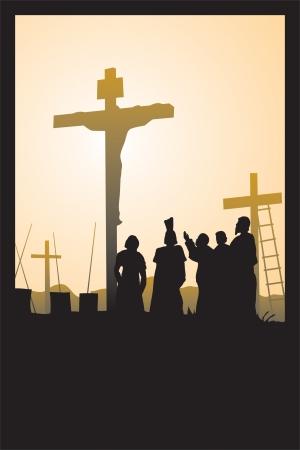 crucify: crucifixion of Jesus Christ