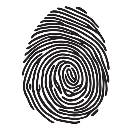 autograph: finger print Illustration