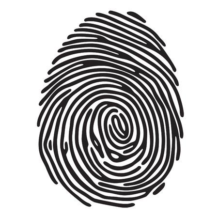 print: Fingerabdruck Illustration