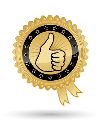 Beste Wahl vector golden badge Illustration