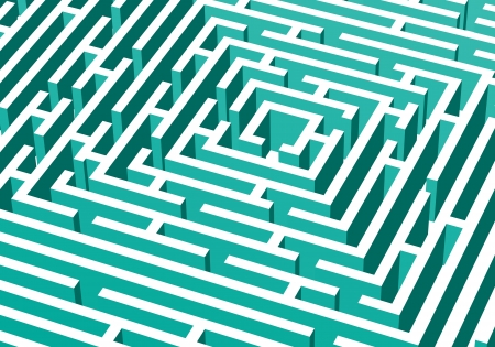 perplex: abstract background with 3d vector labyrinth Illustration