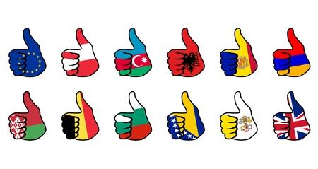 armenia: like symbol with flag of european countries Illustration