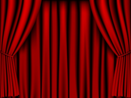 stage decoration abstract: red curtain vector for background