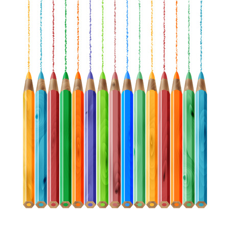writing tools: the color wood pencil set