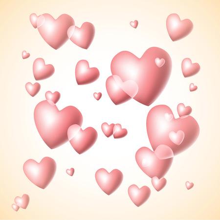 the soap bubbles velentines hearts  Vector
