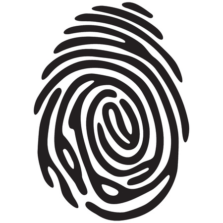 finger print: finger print light black color Illustration