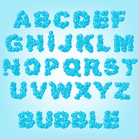 bubble abstract latin alphabet letters  Vector