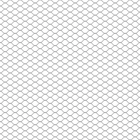 metal chain link fence seamless on white Illustration