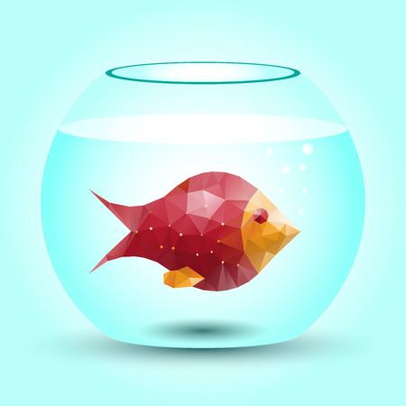 pez abstracto: abstracto peces de colores a partir de tri�ngulos
