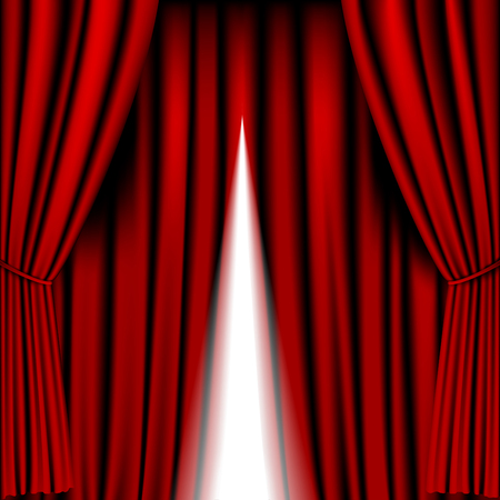opening red curtain vector for background