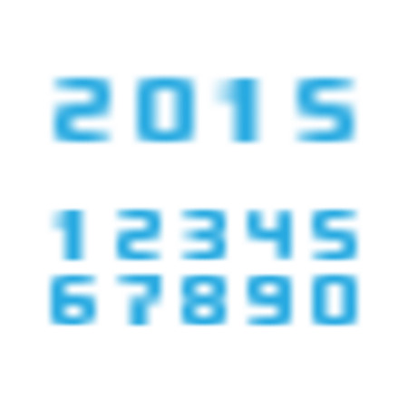 vague: blurred numbers with 2015 new year