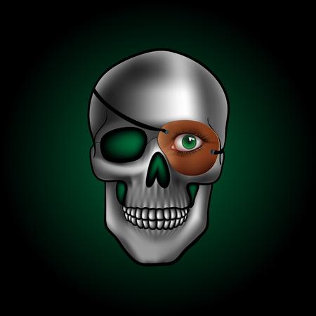 eye green: cr�neo con un ojo verde
