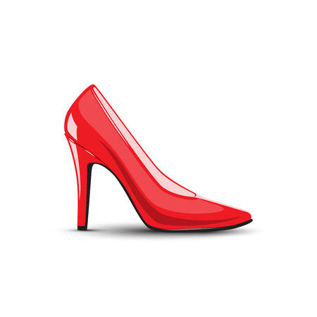women's high heel red shoes Illustration
