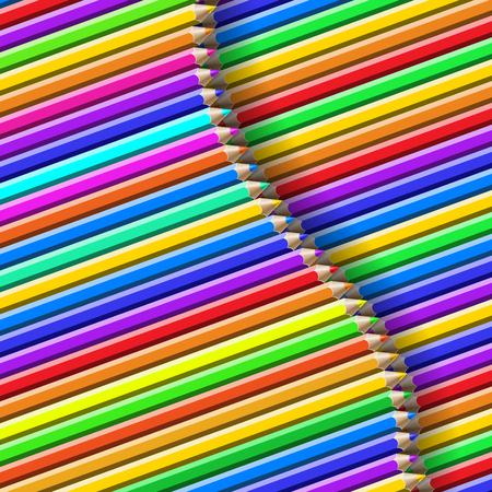 colour pencils: color pencil pattern Illustration