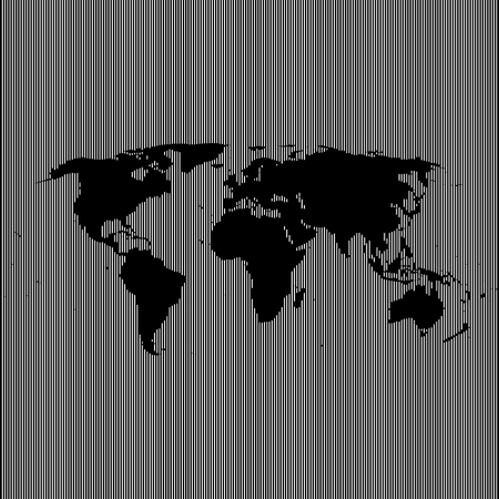 robinson: empty shape world map on background from lines