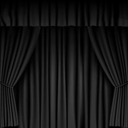 black curtain background