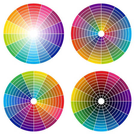 vivid colors: rainbow color wheel Illustration