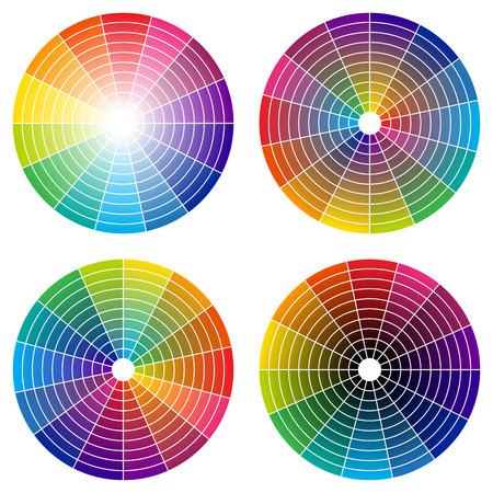 color wheel: rainbow color wheel Illustration