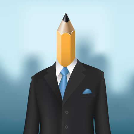 pencil man business concept Vector