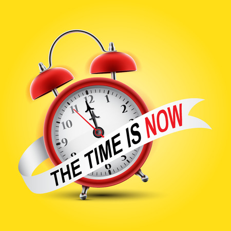 Red alarm clock concept - The Time is Now Illustration
