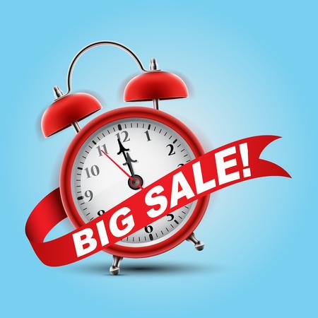Red Wecker Konzept - Big Sale Vektorgrafik