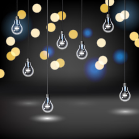 blurred lights: Light Bulb background with blurred lights