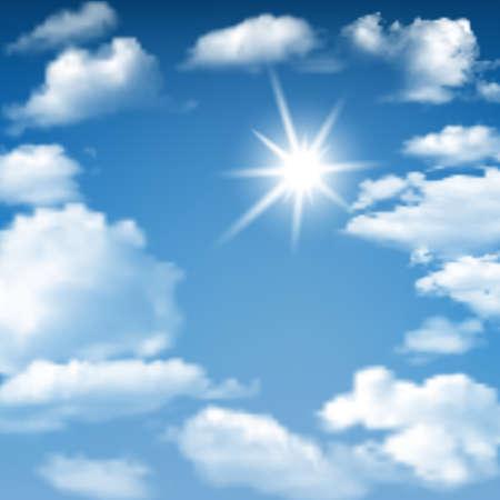 heaven background: Blue Sky Sunny Cloudscape background