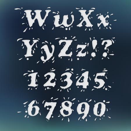splash back: Milk Splash Font. Set Vol.3 W-0 Illustration