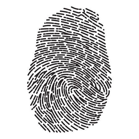 dashed: Black Dashed Line High Detailed Finger Print