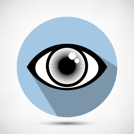 open eye: Open Human Eye Icon. Flat style Illustration