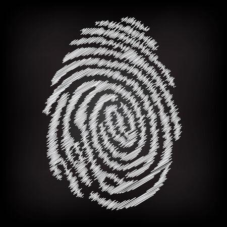 dactylogram: Sketchy fingerprint Illustration