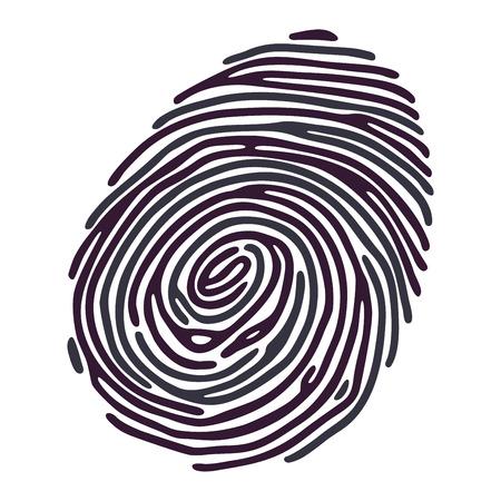 Ink color Finger Print on white