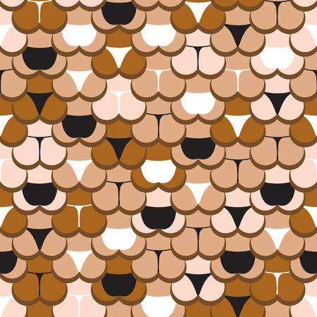 breech: abstract butt in panties seamless pattern