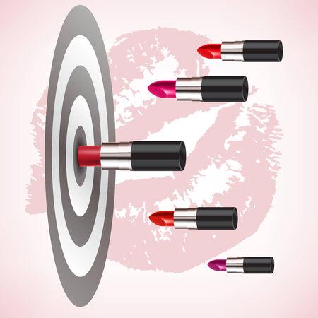 love target: red lipstick hit the target accurately