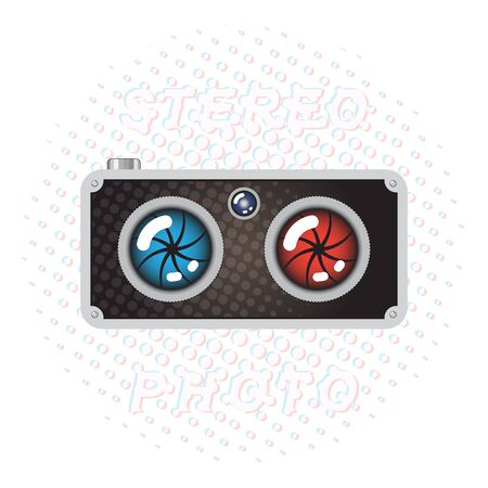 equipo de sonido: Hipster Estilo Retro Stereo Cámara Fotográfica Vectores