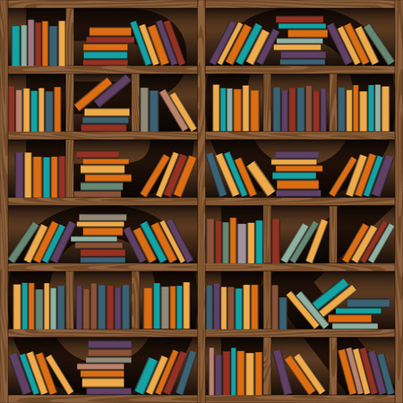 library: background of library book shelf