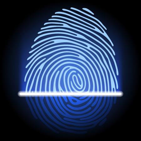 Fingerabdruck-Identifizierungssystem Illustration