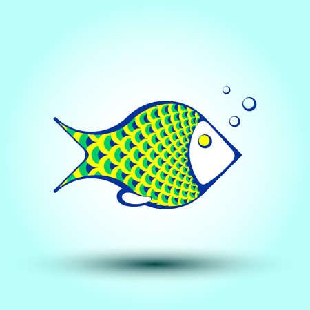 pez abstracto: peces abstracto decorativo