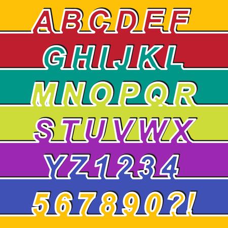 arabische letters: Een Line Font, Latijnse alfabet letters en Arabische cijfers